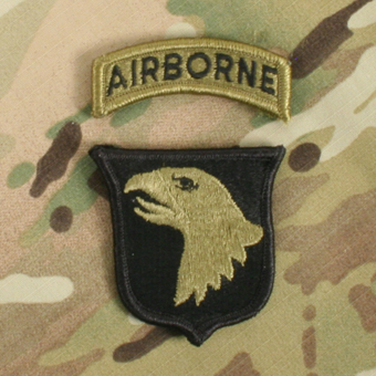 101st Airborne Subdued Patch with AIRBORNE TAB