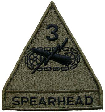 1519 U.S. Army SSI OD SUB Patch - 3rd Armored Division (Spearhead) нашивка
