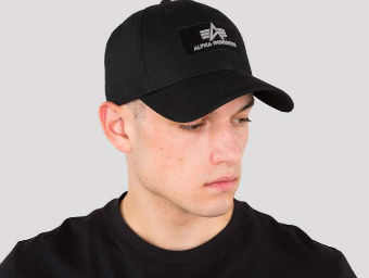 1 Бейсболка Velcro Cap 2 Alpha Industries, черный
