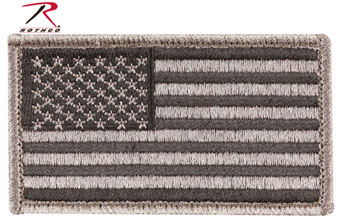 Rothco Forward REVERSE US Flag Patch With Hook Back FOLIAGE 17780