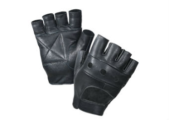 Перчатки без пальцев ROTHCO LEATHER BIKER GLOVES,черный