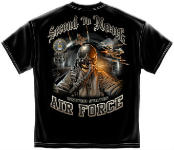 3 Футболка AIR FORCE SECOUND TO NONE, черный