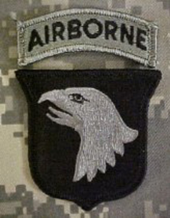 "8455""101st Airborne Division """"Screaming Eagles""(Foliage Green w/ Velcro)"