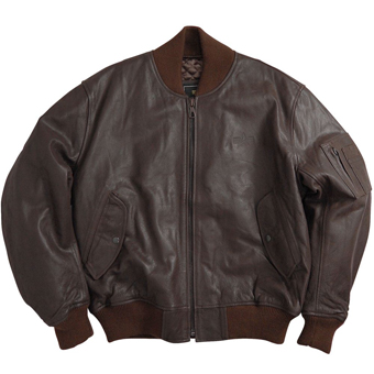 Куртка ''Leather MA-1'' Brown MLM21010BR
