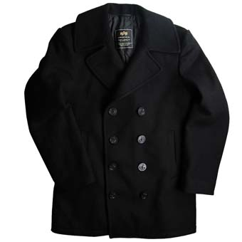 Бушлат Navy Pea Coat. Black. Alpha Industries,черный,45032С4