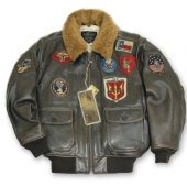 Куртка утеплённая ''Official Top Gun® G-1 Bomber'' Brown TOPGUNBR