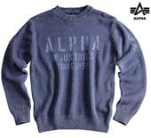 Свитер ALPHA INDUSTRIES, Maintenance Knit, rep. blue ,AI-113402-07