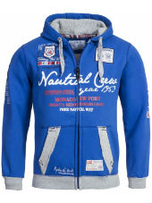 1 Балахон с капюшоном , GAUTICAL MEN REPEAT ,Geographical Norway,ROYAL BLUE
