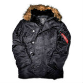 Куртка ''N-3B Parka'' Alpha Industries, черный
