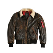 1 Куртка Injector III Leather Alpha Industries, коричневый