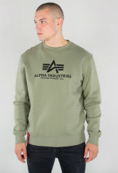 Свитер Basic Sweater, оливковый , Alpha Industries