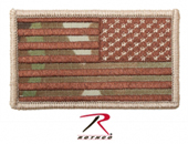 17772 REVERSE MULTICAM FLAG PATCH WITH HOOK BACK нашивка