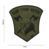 Нашивка Patch 3D PVC Keep your oaths оливковый