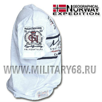 1 Футболка  Geographical Norway  JULIPE SS MEN 100, белый