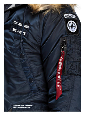 Куртка  N3B Airborne Alpha Industries синий