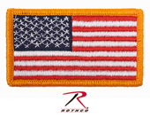 17775 Rothco Forward US Flag Patch With Hook Back