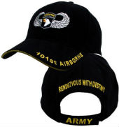 Бейсболка CAP-101ST AIRBORNE W/JUMP WINGS BLK,5430