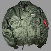 Куртка CWU/45P оливковый, Alpha Industries