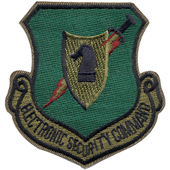 72121 U.S.A.F. Electronic Security Command Subdued Patch, нашивка
