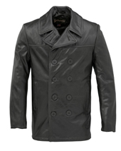 Бушлат Cowhide Fitted Peacoat, Schott,черный 640 FL