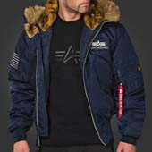 "9Куртка ""45P Hooded Custom"" Alpha Industries, синий"