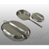 1 Котелок походный Stainless steel mess kit US