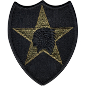 "72133 U.S. Army 2nd Infantry Division ""Indian Head"" Subdued Patch нашивка"