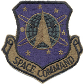 72102 U.S.A.F. Space Command (AFSPC) Subdued Patch Нашивка