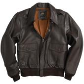 Куртка кожаная A-2 Leather Jacket, Аlpha Industries, коричневая