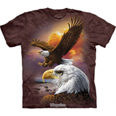 Футболка The Mountain Eagle and Clouds Adult ,коричневый,103036