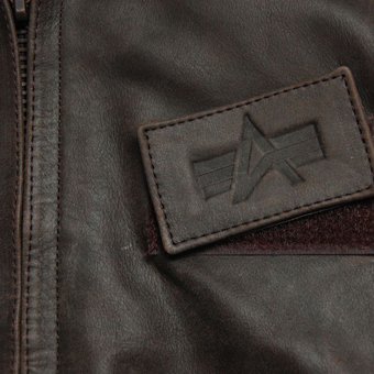 Куртка ''Leather CWU 45/P'' Brown MLC21011BR