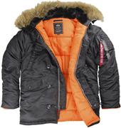 Куртка N-3B Parka Black SLIM FIT MJN31000B