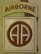 1520 82nd Airborne Desert Patch with Airborne Tab